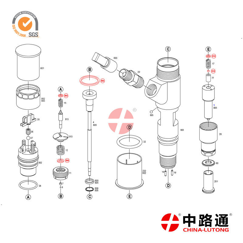 Bosch Common Rail Injector 0 445 120 078 For FAW 6DL1 diesel common rail injector apply to Chinese Truck