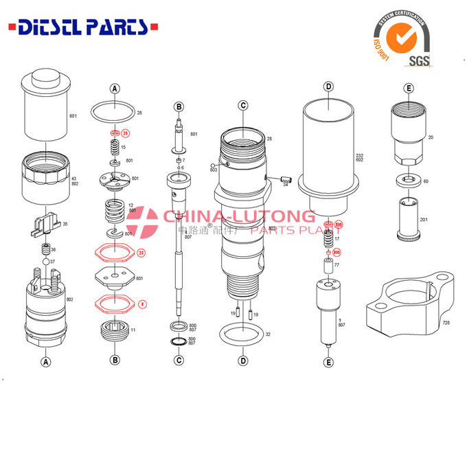 high quality delphi valve injector EJBR02101Z